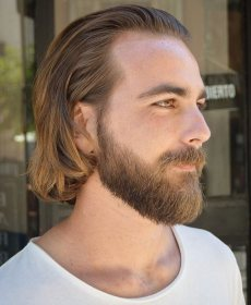 hair straight long beard hairstyles styles mens sweep barber hairstyle haircuts latest soft boys beards curly straightening source facial short