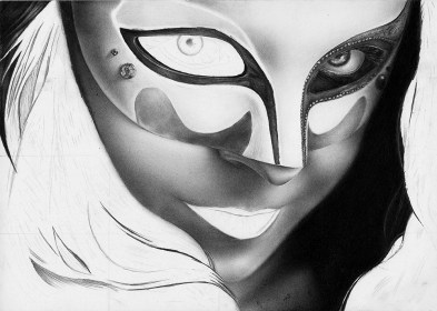 mask drawing pencil realistic behance reference