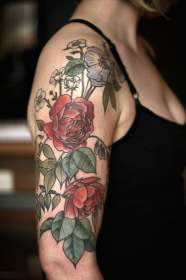 35 alice carrier botanical tattoos a