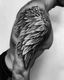 tattoo mens wing angel arm tattoos designs themed giant