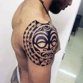 shoulder tribal tattoos tattoo designs neck masculine awesome blade guy mens chest arm markings besides popular there most