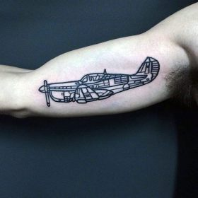 simple arm tattoo tattoos outline male plane guys cool masculine line mens ah wonderful section looks