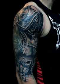 arm tattoo tattoos upper mens designs sleeve arms bicep cool sleeves armour gentleman lion called