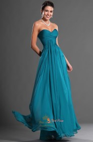dresses teal bridesmaid dark chiffon cheap turquoise sweetheart prom line length floor strapless gowns formal ukbd03 nextprom draping ruched bodice