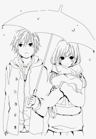anime boy drawing couple colouring getdrawings couples nicepng transparent hoodies
