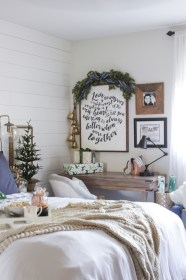 bedroom rustic christmas master garland bed cabin above garlands diy michaels shades bunches spruce couple using