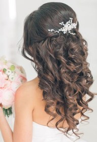 quinceanera hairstyles crown curls bling thick