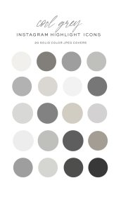 highlight covers icons grey icon gray solid palette social colors neutral