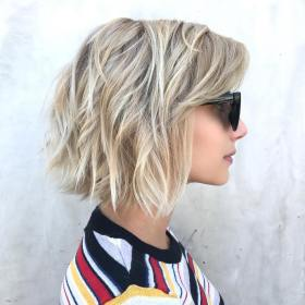 bob hair short thick hairstyles maintenance low haircuts bangs flippy side cuts lob curly easy textured office