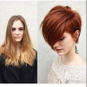 short hair long before hairstyle haircuts hairstyles cute bangs overs makeovers bob cut thick trendy copper styles curly which layered