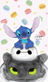 stitch cute toothless baymax lilo disney stich wallpapers cartoon deviantart characters baby iphone drawings easy pikachu background dragon gambar kartun
