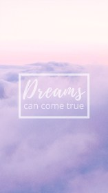 pastel iphone wallpapers purple quotes dream cloudy daydreamers come dreams true clouds christian preppy