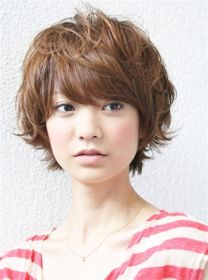 wavy short hairstyles brown hairstyle hair curly haircuts japanese haircut cut asian cute layers pixie layered cuts ladies wave designs