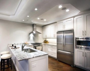 recessed lighting kitchen living track bedroom bathroom led vs which