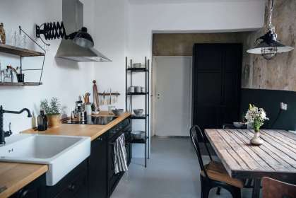 Our Home Stories Ikea kitchen Remodelista 5B