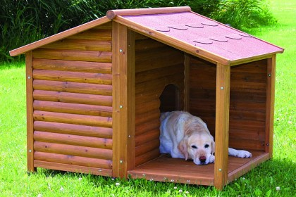 dog trixie pet dogs rustic houses outdoor kennel wooden plan shelter pets roof bed ruralking