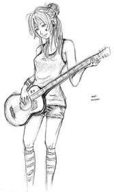 guitar draw playing drawings awesome drawing sketches techniques favim illustration forward