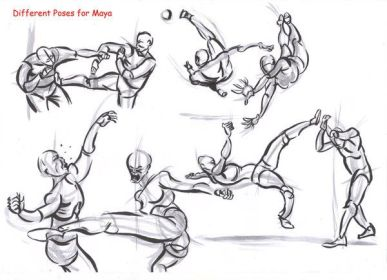 fighting poses drawing fight reference pose deviantart alexbaxthedarkside sketch character anime references sketches drawings anatomy gesture figure ninja karate maya