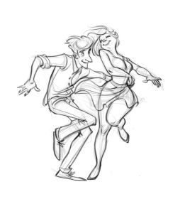 drawing character poses couple sketches references drawings dancing sketch illustration animation ballet swing inspiration comic ych dancers unique action sheecho19