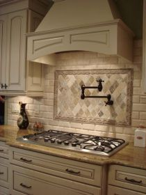French country decorative hood and pot filler Decorating