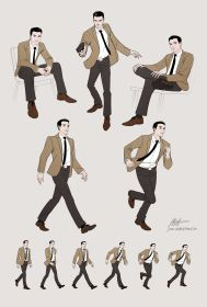 poses dynamic pose drawing deviantart character walking 1960s gesture reference references sketches running javieralcalde action anatomy suit 3d discover