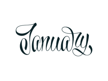 January Typography, January and Fonts
