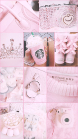 wallpapers girly backgrounds phone collage aesthetic pink things pretty walls cell estellaseraphim