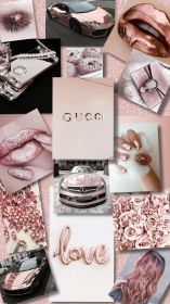 rose gold collage screen lock mac wallpapers backgrounds phone iphone cell