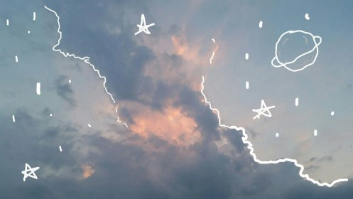 aesthetic sky computer grunge indie clouds wallpapers doodle bambi hippie backgrounds wallpaperaccess