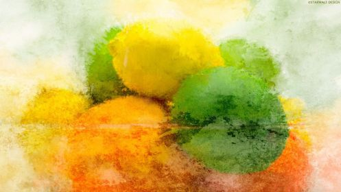 lemons abstract painting wallpapers paintings yellow desktop hd aesthetic limes mac food pc victorian wallpaperaccess backgrounds