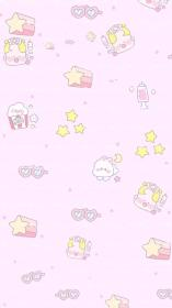 kawaii pastel cute wallpapers iphone backgrounds background anime cartoon aesthetic phone goth laptop 4k screen pink hd paper dog lock