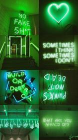 aesthetic wallpapers neon aesthetics backgrounds papel parede verde collages collage wallpapersafari para