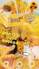 aesthetic yellow wallpapers desktop stickers iphone backgrounds sunflower sunflowers pastel vibing vibes collage retro 1080p 4k android sticker anime tablet