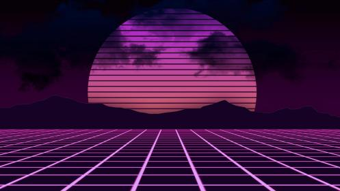 wallpapers aesthetic pink ultra neon landscape retrowave abstract cave
