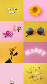 aesthetic pastel yellow wallpapers pink backgrounds phone bunga edelweis requested cave wallpaperaccess glasses wallpapercave