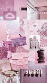 aesthetic wallpapers collage purple