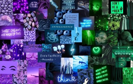 aesthetic collage laptop purple wallpapers backgrounds wallpaperaccess aleatoire