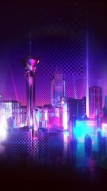 phone neon purple aesthetic wallpapers baddie retro racing tech android wallpapercave 1080