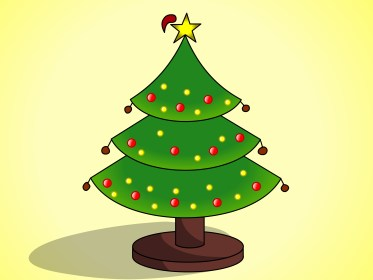 christmas tree drawing draw trees xmas merry easy cartoon coloring step wikihow simple things lights decorations ornaments getdrawings open six