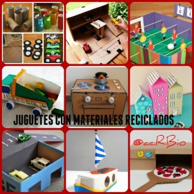 Jugetes material reciclado Collage