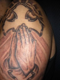 Praying Hands Tattoo Images 767x1024