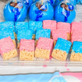 reveal gender party food pink treats decorations outdoor shutterstock cutest