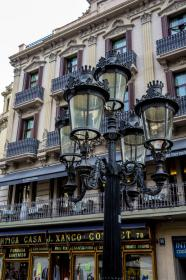 Typical Street Lamp In Barcelona Stock Photo Image of