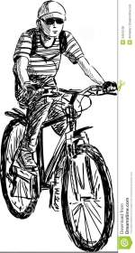 Boy riding a bike stock photo Image of isolated