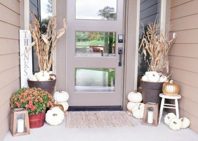 fall porch door decor decorating diy decorate ways outdoor decorated metallic diapers dining porches neutral festive rustic decorations garden fabulously