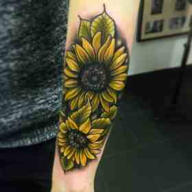 150 Vibrant Sunflower Tattoos And Meanings (February 2020)