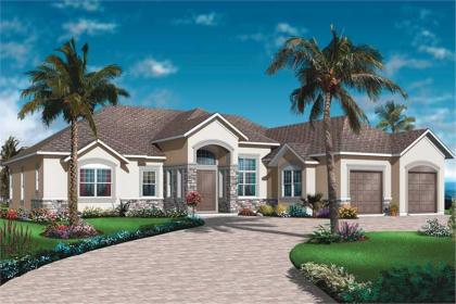 Mediterranean, Bungalow House Plans Home Design DD 3253