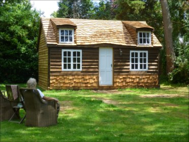 cozy cottage cabin tiny build garden log self bespoke diy cabins houses surrey built kit rustic very custom cottages own