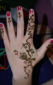 henna hand tattoos hands designs vine tattoo tribal vines simple ink brown most female finger rose fingers tattooed fancy cool