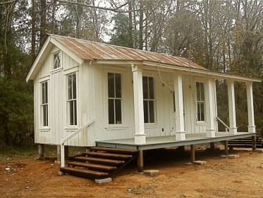 tiny texas houses cottages cabins cottage guest salvage cabin homes building tx built austin pure materials salvaged kitchenette windows teeny